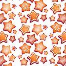 powdered sugar Star Cookies by Paigekotalik