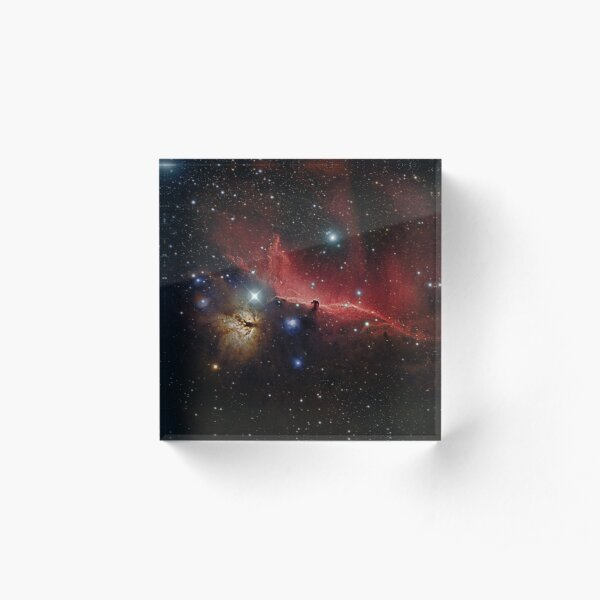 NGC 2024 Horsehead and Flame Nebulas Acrylic Block