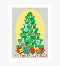 A Chemist's Christmas Art Print