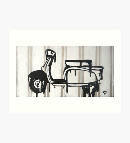 Dali's Melting Scooter Art Print