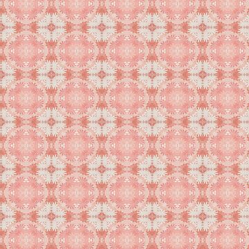 LIVING CORAL - COUNTRY LIVING LACE DESIGN by ozcushionstoo