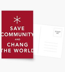 Save Community & Chang the World Postcards
