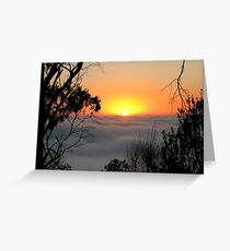 Sunrise from Mount Barker Summit Greeting Card