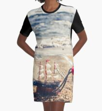 Toy boats and rough seas Graphic T-Shirt Dress