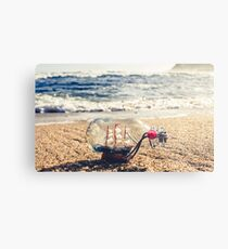 Toy boats and rough seas Metal Print