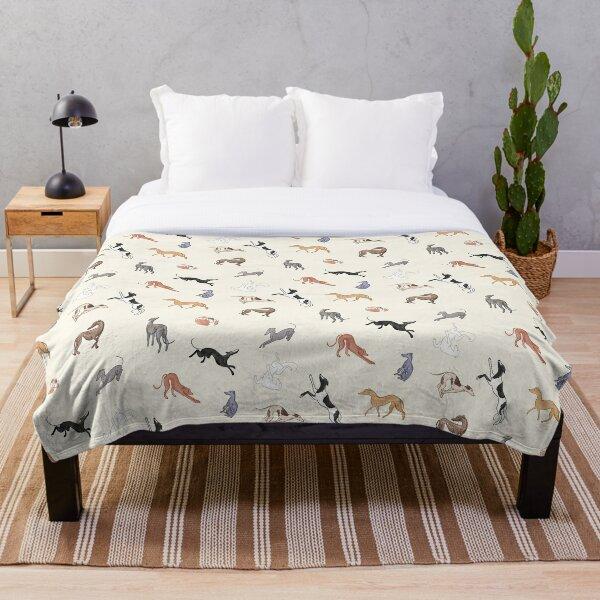 Greyhound Love - Adopt Throw Blanket