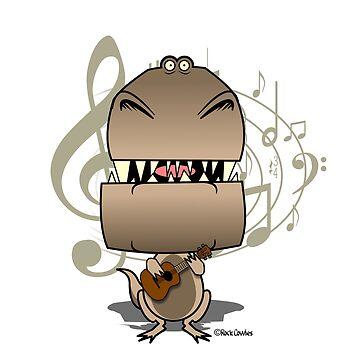 T-Rex Ukulele Baby by Kowulz