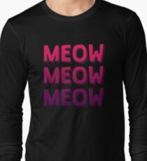 Cat Lover Meow Long Sleeve T-Shirt