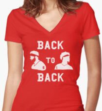 Back to Back Heisman Winners Women's Fitted V-Neck T-Shirt