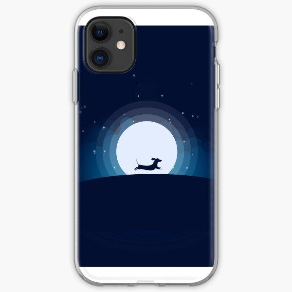 Doxie auf dem Mond iPhone Flexible Hülle