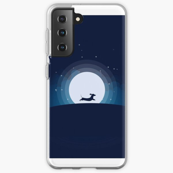 Doxie on the Moon Samsung Galaxy Soft Case