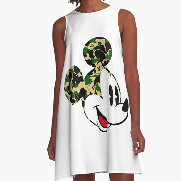 Bape cartoon A-Line Dress