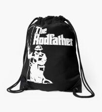 The Rodfather Fishing T Shirt Drawstring Bag