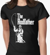 The Rodfather Fishing T Shirt Women's Fitted T-Shirt