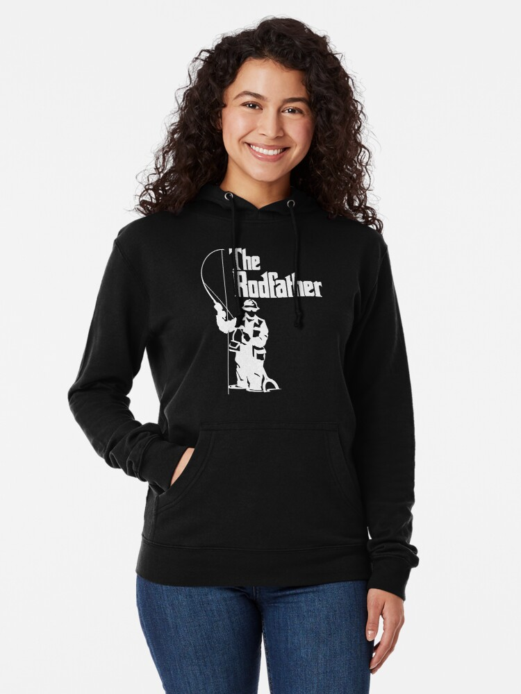 Alternate view of The Rodfather Fishing T Shirt Lightweight Hoodie