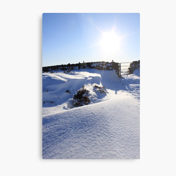stunning snow forms Metal Print
