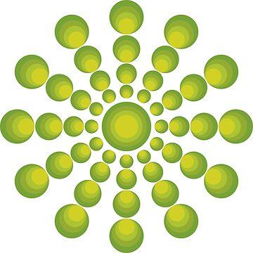 Grüne Kreise im 70er Style von pASob-dESIGN