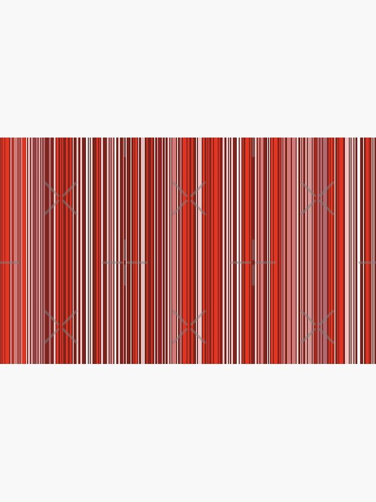 Viel buntes Streifenmuster im Rot von pASob-dESIGN