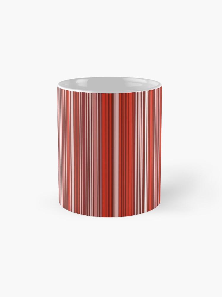 Alternative Ansicht von Viel buntes Streifenmuster im Rot Tassen