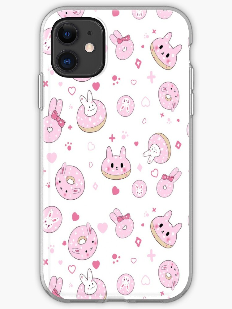 Cute Pink Doughnut Wallpaper Iphone Case Cover By Lemonmochi Redbubble