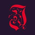scarlet letter J by MAGDALENE CARMEN