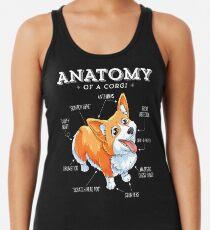 Anatomie eines Corgi-T-Shirts Lustiges Corgis-Hundewelpen-Shirt Racerback Tank Top