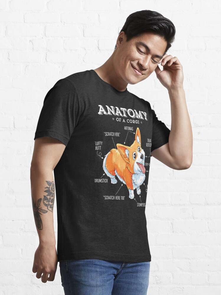 Alternate view of Anatomy of a Corgi T-Shirt Funny Corgis Dog Puppy Shirt Essential T-Shirt