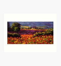 Provence Wildflowers & Lavender Art Print