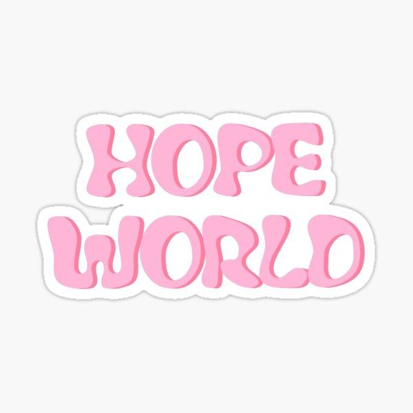 Pastel HOPE WORLD Mixtape Sticker