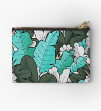 Green jungle leaves Studio Pouch