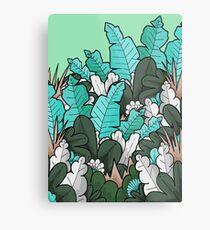 Green jungle leaves Metal Print