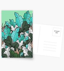 Green jungle leaves Postcards