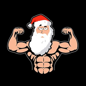 Bodybuilding Fitness Muscles Training Santa Claus by yoddel