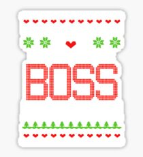 Be nice to the Boss Santa is watching Ugly Christmas sweater T-shirt Sticker