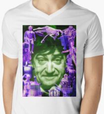 DOCTOR WHO The Second Doctor versus the Monsters PATRICK TROUGHTON POP ART Men's V-Neck T-Shirt