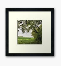 English countryside early Autumn muted colours Framed Print