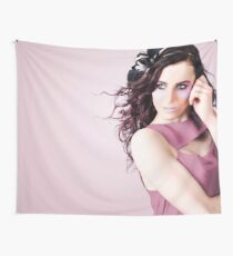 Stylish Portrait Of Fashion Girl In Purple Makeup Wall Tapestry
