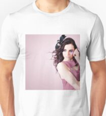 Stylish Portrait Of Fashion Girl In Purple Makeup Unisex T-Shirt