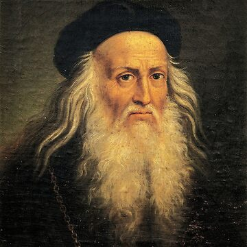 Leonardo Da Vinci self portrait by Geekimpact