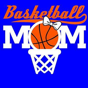 Basketball Mom T-Shirt Gift for Moms by Teeshirtrepub