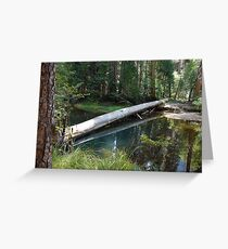 Log on Water Reflection Greeting Card