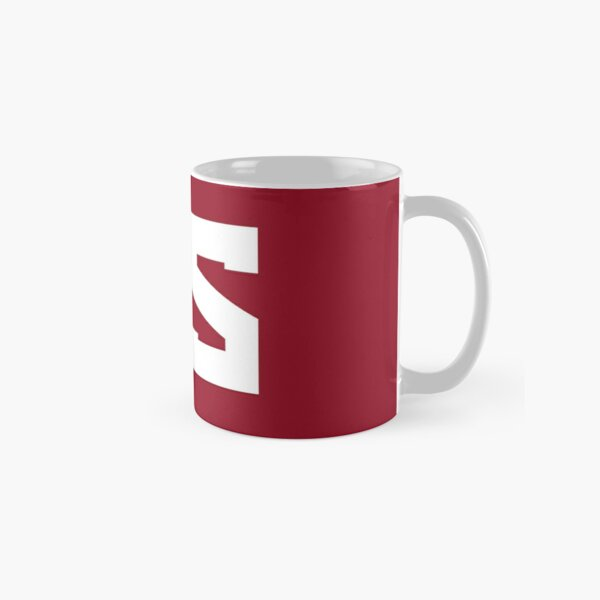 Red Scare White On Red Classic Mug