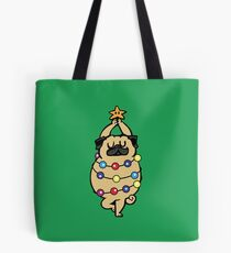 Pug Merry Christmas Tote Bag