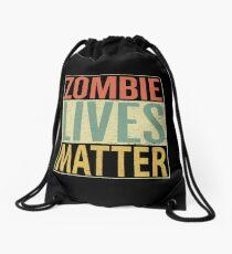 Zombie Lives Matter Drawstring Bag