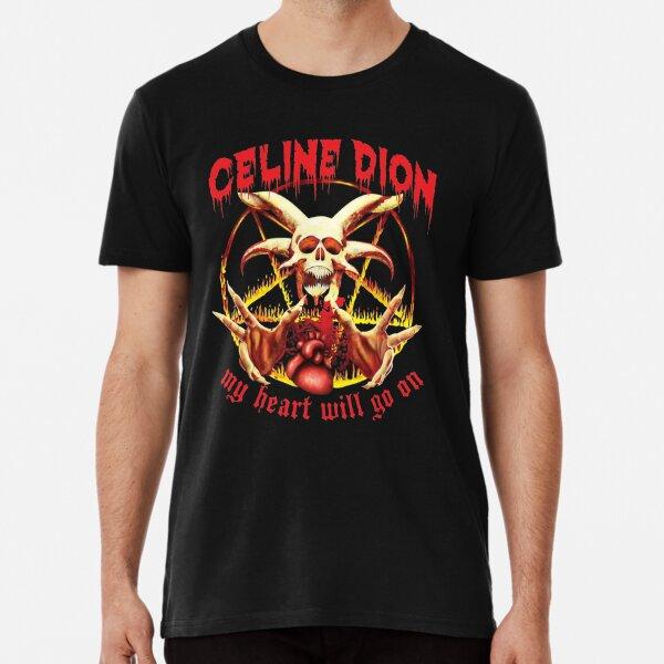 Celine Dion - Mein Herz wird auf Metal Restyle gehen Premium T-Shirt