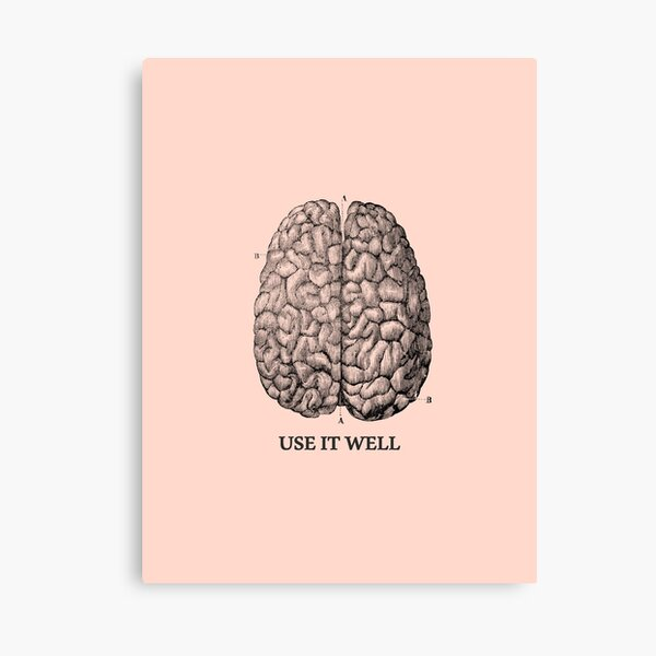 Use it well - Brain  Canvas Print