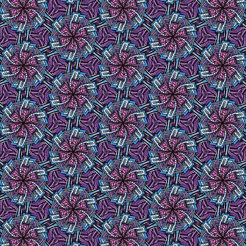 Modern geometry flowers decoration by rafo