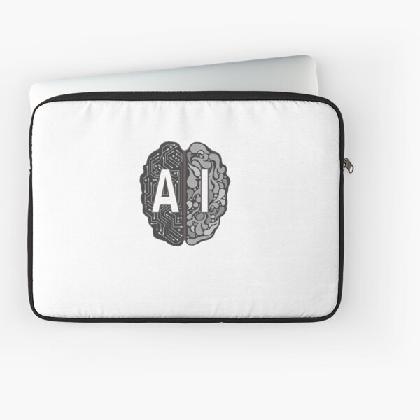 AI Brain Logo Laptop Sleeve