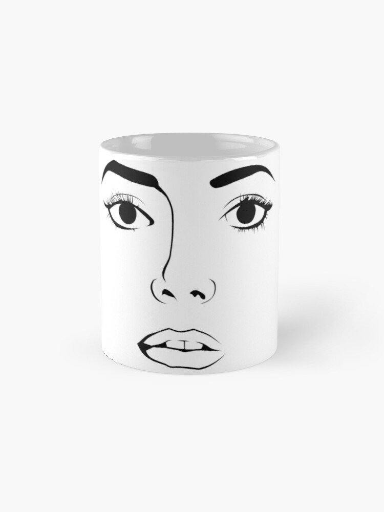 Alternative Ansicht von Gesicht einer Frau Tassen