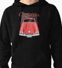 Corvette C1 1958 to 1960 - Red Pullover Hoodie